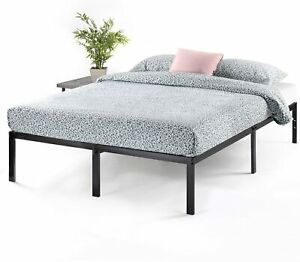 Full Size Platform Bed Frame Metal Heavy Duty 14 Inch Mattress Steel Foundation