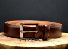 Trafalgar Mens Classic Leather Belt Brown Size 40