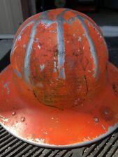 Vintage Us Forest Service Aluminum Hard Hat - B.F. McDonald Co. - Rare Orange