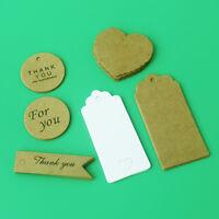 1000pcs Kraft Paper Gift Tags Wish Bottles Wedding Homemade Craft  DIY Label