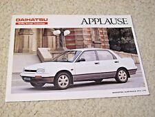 1980's AUSTRALIAN DAIHATSU APPLAUSE SALES BROCHURE