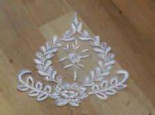 Ivory bridal wedding floral sequins lace applique / ivory gloves lace motif