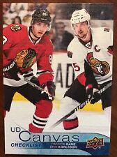 16-17 UD Hockey Series 1 UD Canvas Check List Kane/Karlsson #C90 SSP