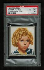 PSA 4.5 SHIRLEY TEMPLE 1939 Monopol Cigarette Card #96 Beautiful