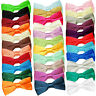 DQT Satin Plain Solid Formal Classic Pre-Tied Mens Bow Tie + FREE Matching Hanky