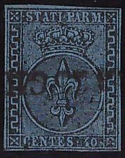 PARMA 1852 - 40 Cent. n. 5 USATO SPL € 900