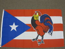 Puerto Rico Cock Flag 3X5 Foot Banner Sign Rooster 3'X5' Feet New F623
