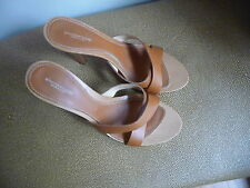 Studio Pollini Italy 36 1/2 strappy 4 in sandals saddle