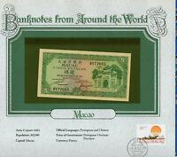 World Banknotes Macau 1981 5 Patacas P-58c UNC Prefix BV