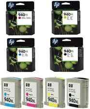 4 X GENUINE BARGAIN HP 940 XL 8000 8500 A BLACK CYAN MAGENTA YELLOW FAST POSTAGE