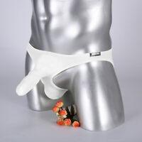 Men's Superthin Sheer Long Sheat Elephant Nose Thongs Ice Silk Briefs Underwear