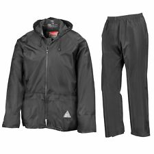 Mens Waterproof Windproof Heavy Duty Jacket & Trousers Rain Suit in BAG New