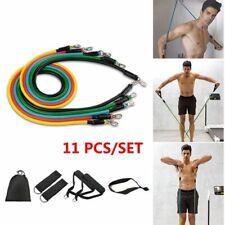 11pcs/set Crossfit Resistance Bands Tube Set Yoga Exercises Elastic Pull Rope