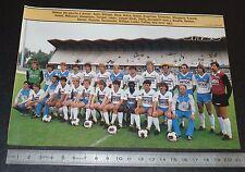 CLIPPING POSTER FOOTBALL 1985-1986 D2 FC MULHOUSE ALSACE STADE DE L'ILL