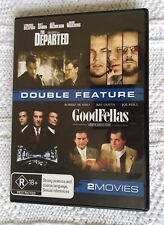 THE DEPARTED/ GOODFELLAS – DVD, 2-DISC, REGION-4, LIKE NEW, FREE POST AUS-WIDE