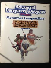 D&D-MONSTROUS COMPENDIUM APPENDIX GREYHAWK ADVENTURES-AD&D 2°-TSR