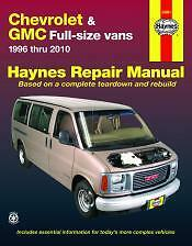 Chevrolet Express/GMC Savana Vans Haynes Repair Manual 1996 to 2010 24081