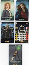 Doctor Who the Card Game 2009 c7e - 5 Art Cards: Sonic Screwdriver, River Song