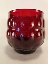 """Royal Ruby Red Bubble 8 oz Old Fashioned Tumbler(s) 3 1/4"""" Anchor Hocking Glass"""