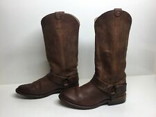 VTG WOMENS FRYE HARNESS COWBOY BROWN BOOTS SIZE 6 B