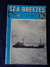 SEA BREEZES Magazine vol. 32, no.187, July 1961. (70 Years of Irish Mail)