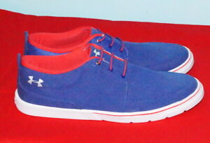 Under Armour Street Encounter  Men's Shoes Size 12 Blue Canvas Pre-Owned $38.-