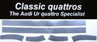 SILVER FRONT SKIRT LOWER AIR VENT TRIM STRIPS    AUDI UR QUATTRO TURBO COUPE