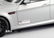 V8 SPORT Racing Vinyl Decal car emblem logo skirt door sticker WHITE/RED