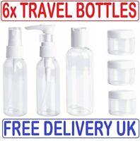 6 Pcs 100ml Travel Pump Bottle Liquid Hand Wash Spray Toiletry Set Leak-Proof