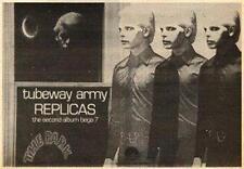 Tubeway Army Replicas UK LP advert 1979