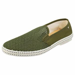 Rivieras Classic 20 Mens Khaki Textile Espadrille Shoes