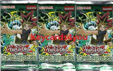 YUGIOH  3 X SPELL RULER BOOSTER PACKS LEGENDARY COLLECTION LC01 NEW & SEALED
