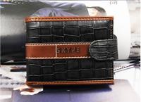 Herren Geldbörse Geldbeutel Portemonnaie Brieftasche klein kompakt Schwarz Braun