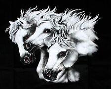 HORSE WESTERN LADIES WOMENS ARABIAN HORSES  WINDCHEATER SWEATSHIRT SMALL BLACK
