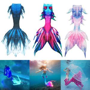 New Kids Girls Boys Women Men Mermaid Tail Luxurious Swimming Tail with Monofin