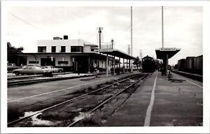Real Photo Postcard Railroad Train Station Depot in Wildwood, Florida~139894