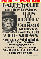 JOHN LEE HOOKER BLUES POSTERS BB MUDDY SINGER BOOM BLACK CONCERT ALBUM DELTA