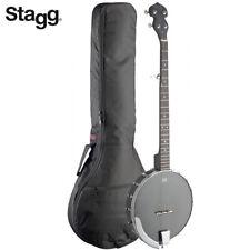 NEW Stagg 5-String BJW-OPEN-5 Open Back Banjo Matte Black with Padded Gig Bag