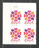 Sc # 5339 ~ Plate # Block ~ Forever Stamp, Hearts Blossom Issue (da29)