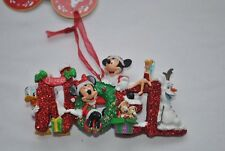 Disney Mickey Minnie Tinker Bell Olaf Christmas Decoration Ornament Tree Joyeux