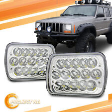2x 7x6 Chrome 6000K Sealed Beam LED Headlights for Jeep Wrangler Cherokee XJ YJ