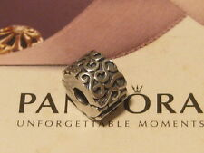 AUTHENTIC PANDORA SERPENTINE SILVER FIXED - SCROLLS CLIP CHARM - 790338