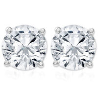 IGI Certified 1 1/4 cttw Diamond Studs 14K White Gold Earrings