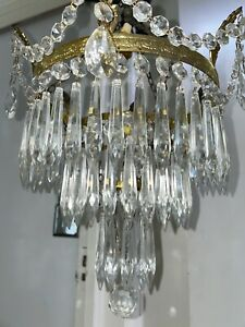 electric antique icicle waterfall crystal chandelier