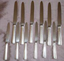 12 couteaux (6+6) argent fourré Art déco Tétard Frères -en l'état, à restaurer !