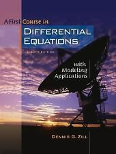 A First Course in Differential Equations with Modeling Applications (with CD-ROM