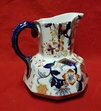 Brand Unknown Vintage Unique Blue China Ceramic Pitcher With Gold Accents Price Ceramics & Porcelain Antiques