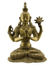 Statue tibetaine Chenrezig Tchenrezi Avalokiteshvara Bouddha 26.5cm 2kg800 25647