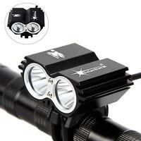 SolarStorm 5000 LM 2x T6 LED Front Bicycle lamp Bike Light Headlight Lamp AU