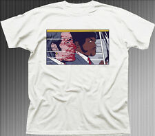 PULP FICTION POP TRAVOLTA SAMUEL L JACKSON  white cotton t-shirt 9892